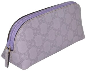 Gucci NEW GUCCI WOMENS GG MONOGRAM LEATHER COSMETIC TRAVEL BAG MAKEUP POUCH