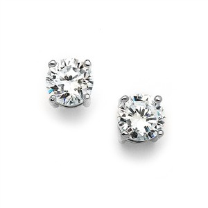 Mariell 10mm Round Cubic Zirconia Stud Earrings 4370e-s