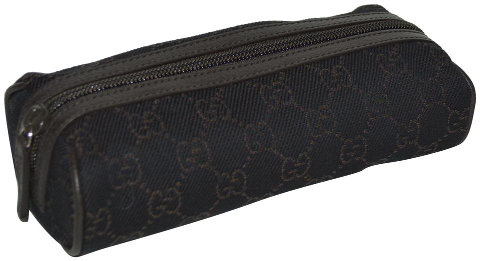 Gucci NEW GUCCI WOMENS GG MONOGRAM LOGO COSMETIC TRAVEL BAG MAKEUP POUCH Image 0 ...