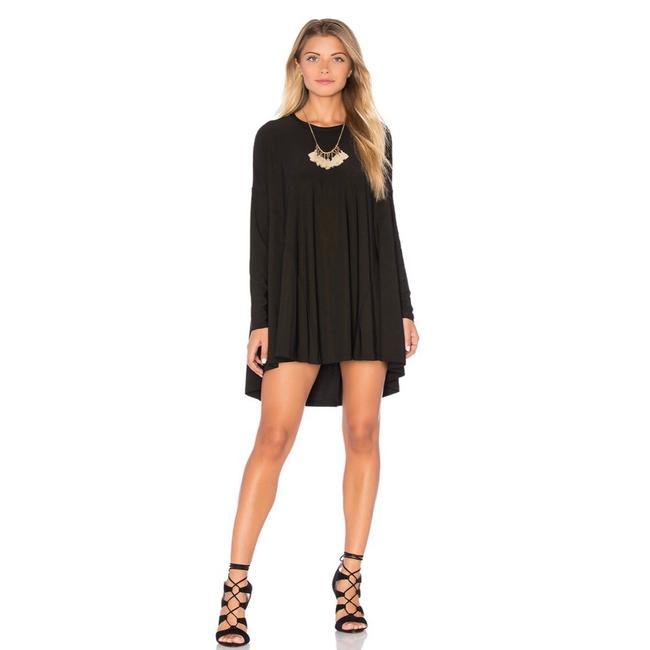 Show Me Your Mumu Black Will Tunic Long Sleeve In Spandy Short Cocktail Dress Size 8 (M) Show Me Your Mumu Black Will Tunic Long Sleeve In Spandy Short Cocktail Dress Size 8 (M) Image 1