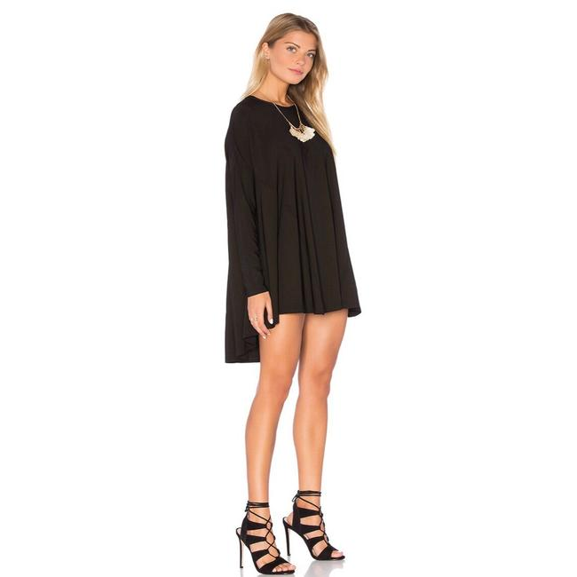 Show Me Your Mumu Black Will Tunic Long Sleeve In Spandy Short Cocktail Dress Size 8 (M) Show Me Your Mumu Black Will Tunic Long Sleeve In Spandy Short Cocktail Dress Size 8 (M) Image 2
