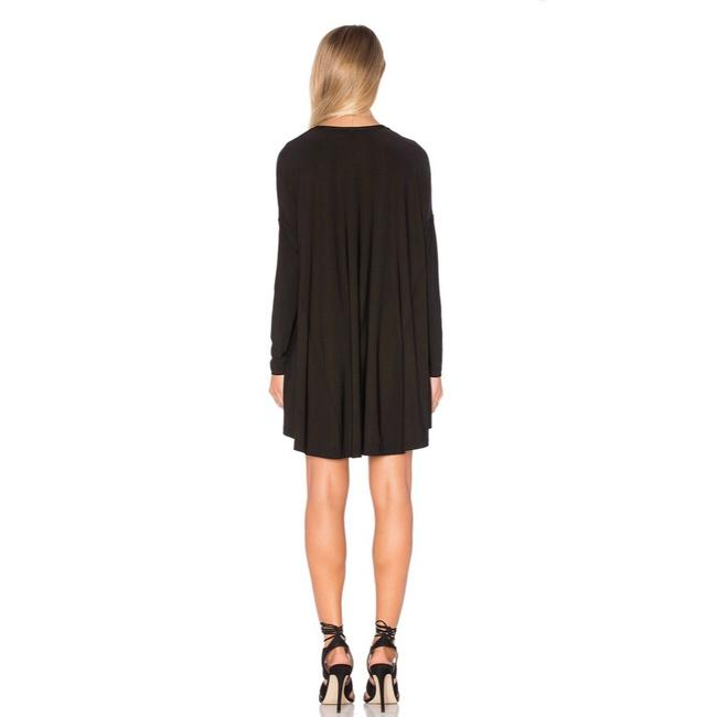Show Me Your Mumu Black Will Tunic Long Sleeve In Spandy Short Cocktail Dress Size 8 (M) Show Me Your Mumu Black Will Tunic Long Sleeve In Spandy Short Cocktail Dress Size 8 (M) Image 3