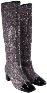 Chanel Runway Rare Glitter Pink Boots