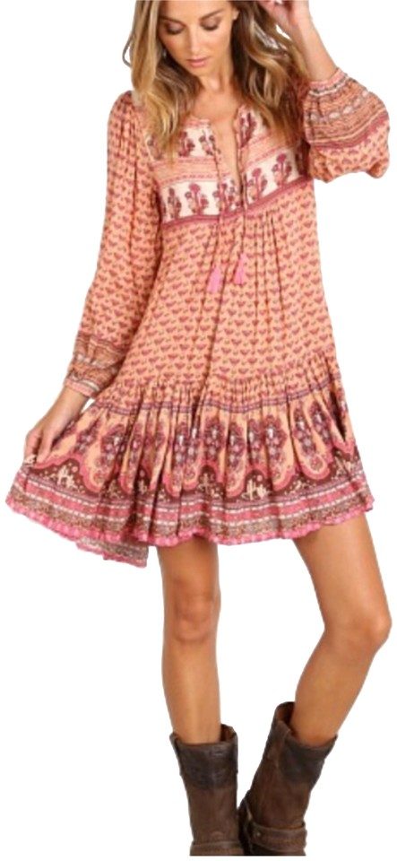 ccb61d709f0 Spell   the Gypsy Collective Pink Sunset Road Short Casual Dress ...