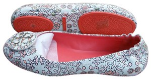 Tory Burch Leather Travel Floral Flats