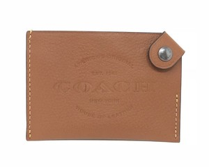 Coach Leather Wallet F24659 Wristlet in Saddle