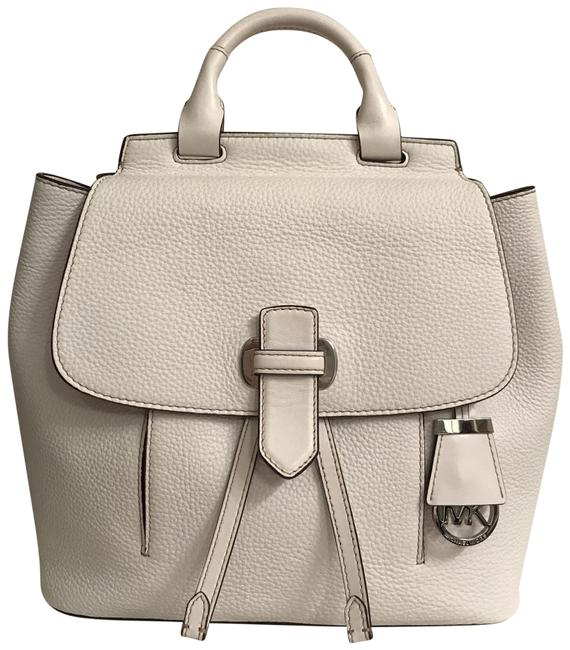 Item - New Romy Medium Optic White Silver Leather Backpack