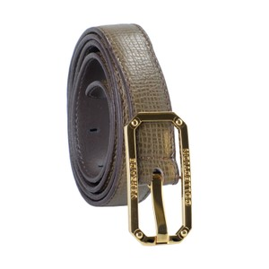 Versace Collection Versace Collection 100% Leather Gray Women's Belt