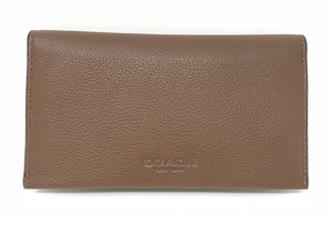 Coach Wallet Leather F63646 Wristlet in Saddle