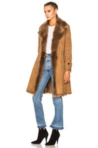 Burberry Winter Shearling Leather Puffer Fur Coat