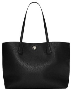 Tory Burch Leather Carryall Purse Tote in Black