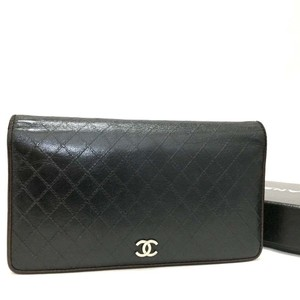 Chanel CHANEL Bicolore Quilted Matelasse CC Logo Long Bifold Wallets