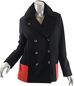 Sonia Rykiel Color Pea Coat Black Blazer