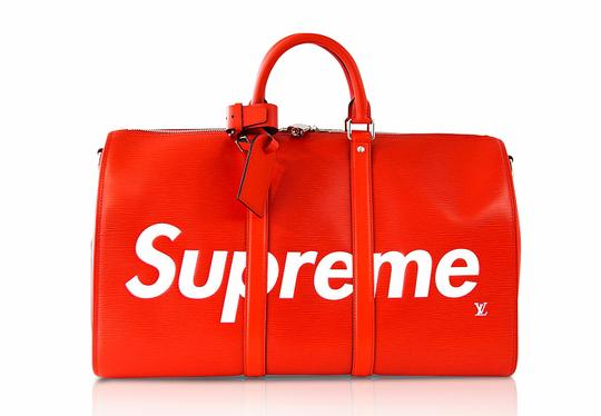 Louis Vuitton x Supreme Keepall Epi Leahter Red Travel Bag Image 2