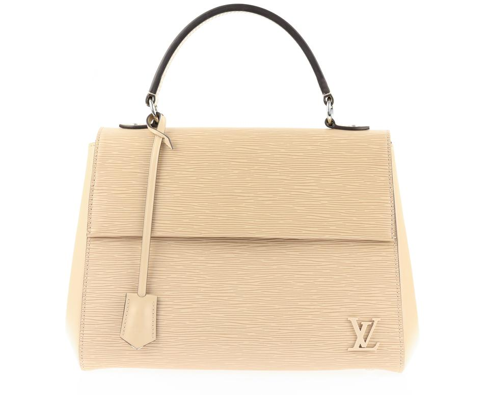 95dbe179e540 Louis Vuitton Cluny Mm Natural Beige Leather Satchel - Tradesy