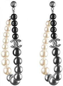 Chanel AUTHENTIC CHANEL PEARL CC STATEMENT DROP EARRINGS RARE