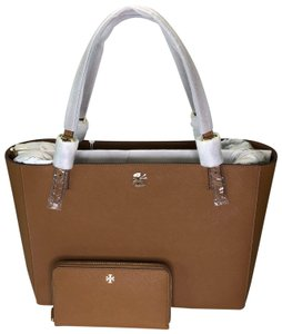 Tory Burch Matching Set Leather Emerson Buckle Tote Emerson Continental And Wallet Set Satchel in Tiger's Eye