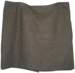 The Limited Lined Wool Blend Machine Washable Mini Skirt Hunter Green