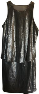 Halston Cocktail Prom Pop-over Sequin Dress
