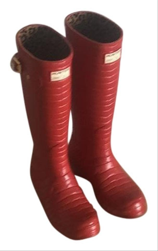 d5bcaf31c8 Jimmy Choo Red Hunter Boots Booties Size US 7.5 Regular (M