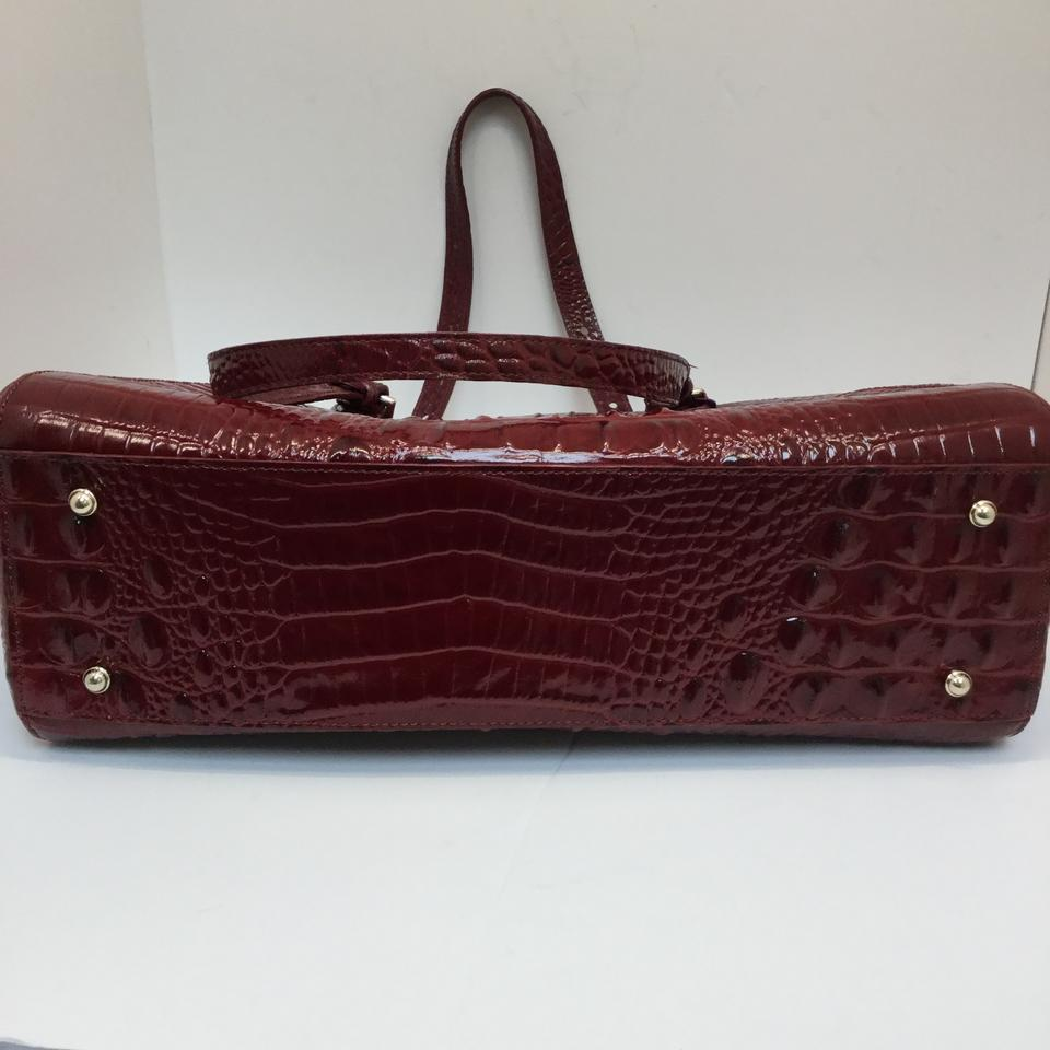 Brahmin Medium Emerson Melbourne Red Leather Tote Tradesy Brown New 123456789