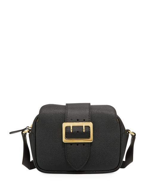 Burberry Small Buckle Black Leather Cross Body Bag Burberry Small Buckle Black Leather Cross Body Bag Image 1