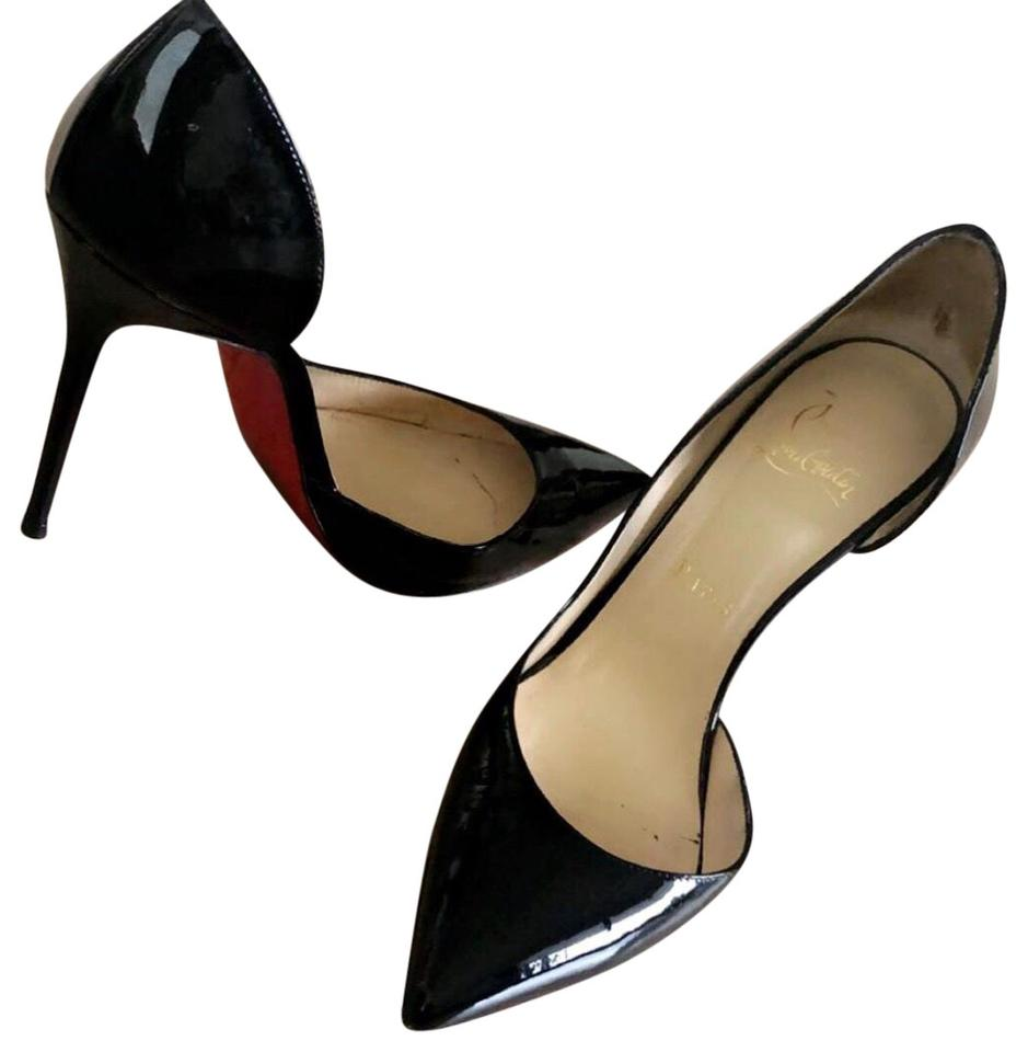 Christian Louboutin Black Iriza 100mm Patent Heals Pumps Size Eu 37 Approx Us 7 Regular M B 16 Off Retail