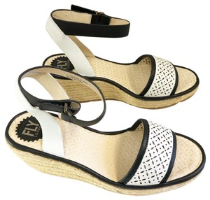 FLY London Black and white Wedges