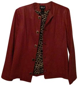by&by Red Leather Jacket