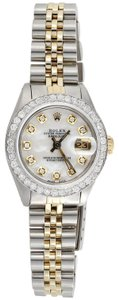 Rolex Ladies Rolex Diamond Watch MOP Dial 6917 18K/ Steel Jubilee Band 1 Ct.