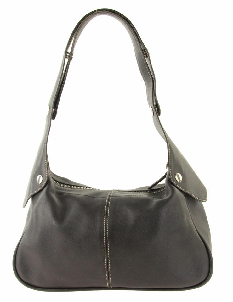 4168db45be734 Tod's Studded Black Leather Shoulder Bag - Tradesy