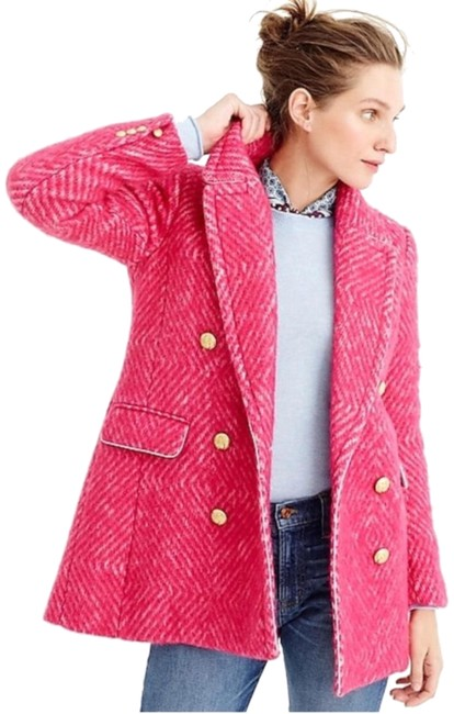 Item - Pink Double Breasted Coat Size 0 (XS)