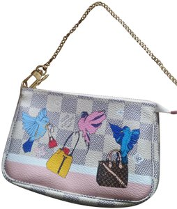 Louis Vuitton Mini Pochette Monogram Damier Holiday Wristlet in Azur