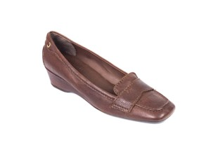 The Original Car Shoe Prada Suede Fringe Brown Wedges