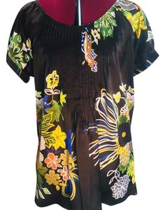Desigual Top black with floral design