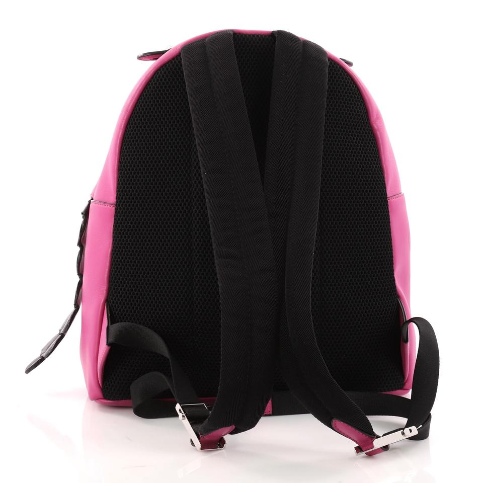 f46716a283 Fendi By The with Crocodile Medium Pink Leather Backpack - Tradesy
