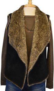 Velvet by Graham & Spencer Faux Fur Faux Suede Vegan Vest