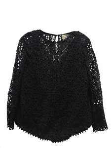 Sea Crochet Holiday Cocktail Cocktail Top Black