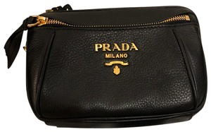 Prada Belt Fanny Pack Leather Gold Hardware Adjustable Shoulder Bag