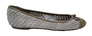 Delman Grey/Taupe Flats