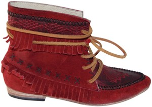 FREEBIRD by Steven Red Moccasin Boots