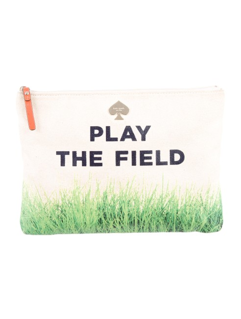 Item - Gia Call To Action Play The Field Pouch Wlru1668 Beige Canvas Clutch