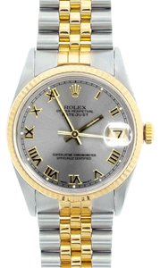Rolex Men's Datejust 2-tone with Silver Champagne Watch
