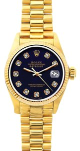 Rolex 26mm President Datejust 18k Gold W/ Box & Appraisal Watch