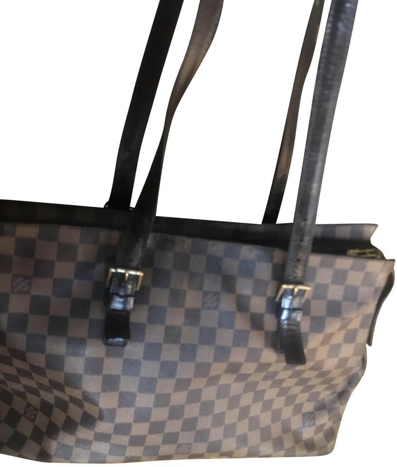 2d50a7006112 Louis Vuitton Chelsea Damier Ebene Gm Brown Canvas Tote - Tradesy