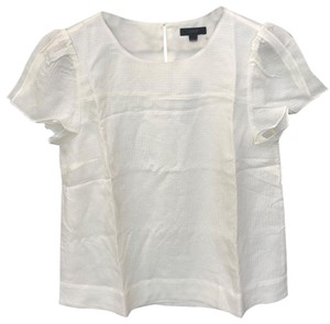 J.Crew Silk Drapy Lined Top Ivory