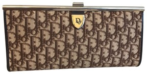 Dior Vintage Trotter Oblique Monogram Brown Clutch
