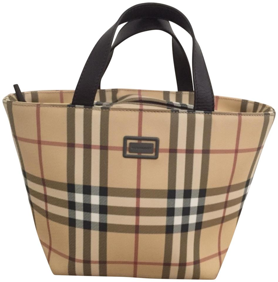 1284964b6c Burberry Euc Vintage Nova Check Brown & Multiple Leather Pvc Tote ...