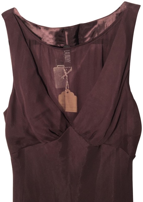Item - Wine Fit and Flare Long Cocktail Dress Size 8 (M)