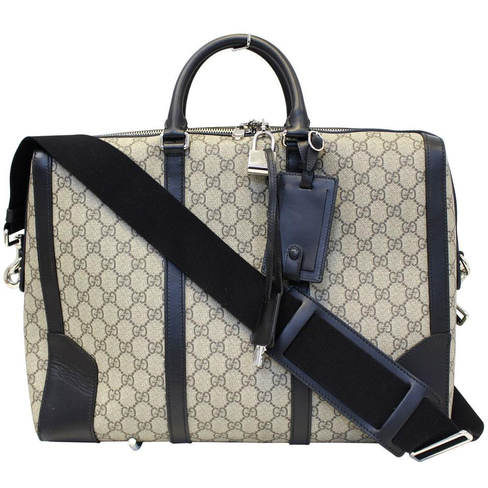 9d2a05feaae7 Gucci Eden Supreme Coated Canvas Briefcase 406384 Weekend/Travel Bag ...